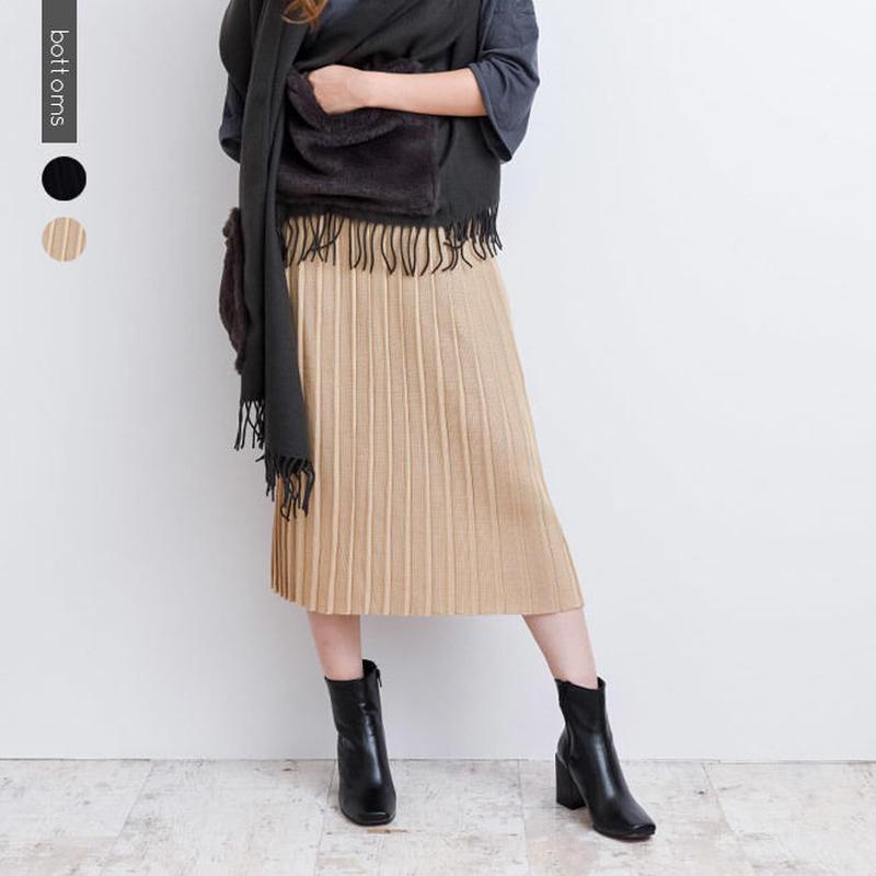 プリーツニットスカート  b0002