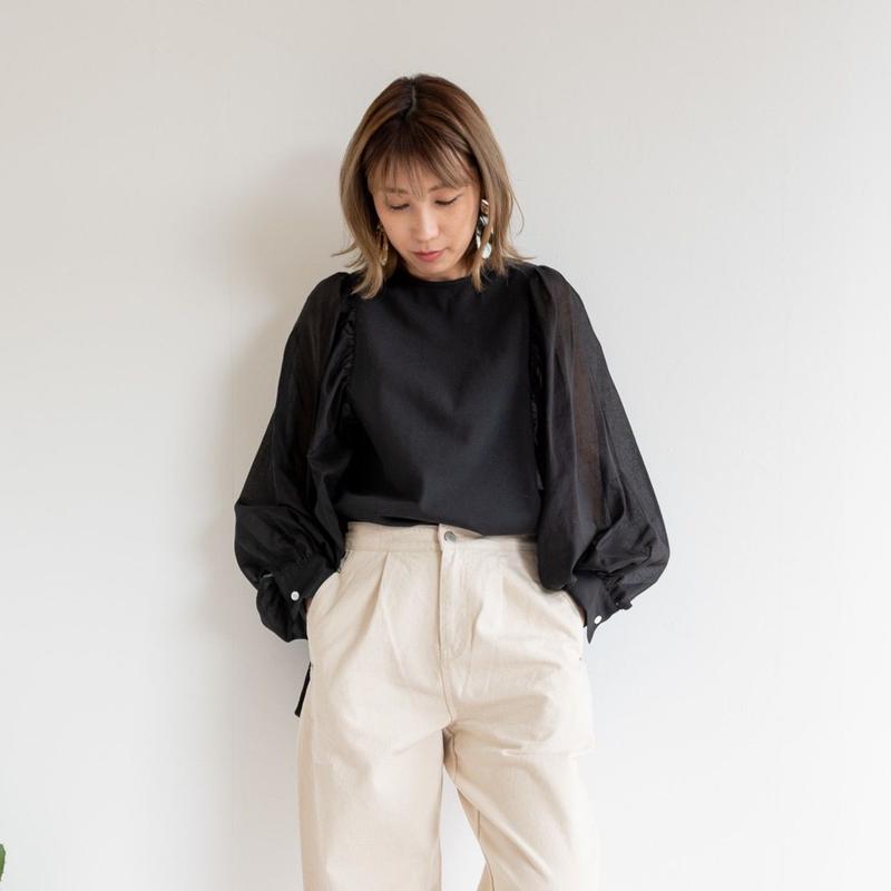 【kittle キトル】シフォンスリーブプルオーバー       c0043