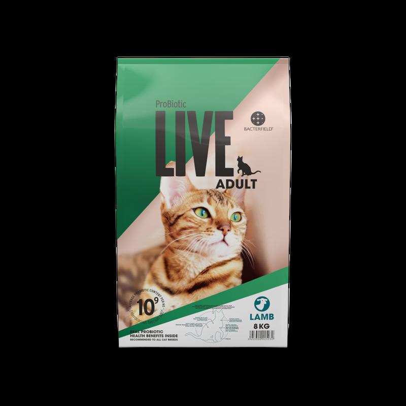 ドイツ発 スーパープレミアム キャットフード プロバイオティック ライブ (Probiotic Live) 成猫 8Kg