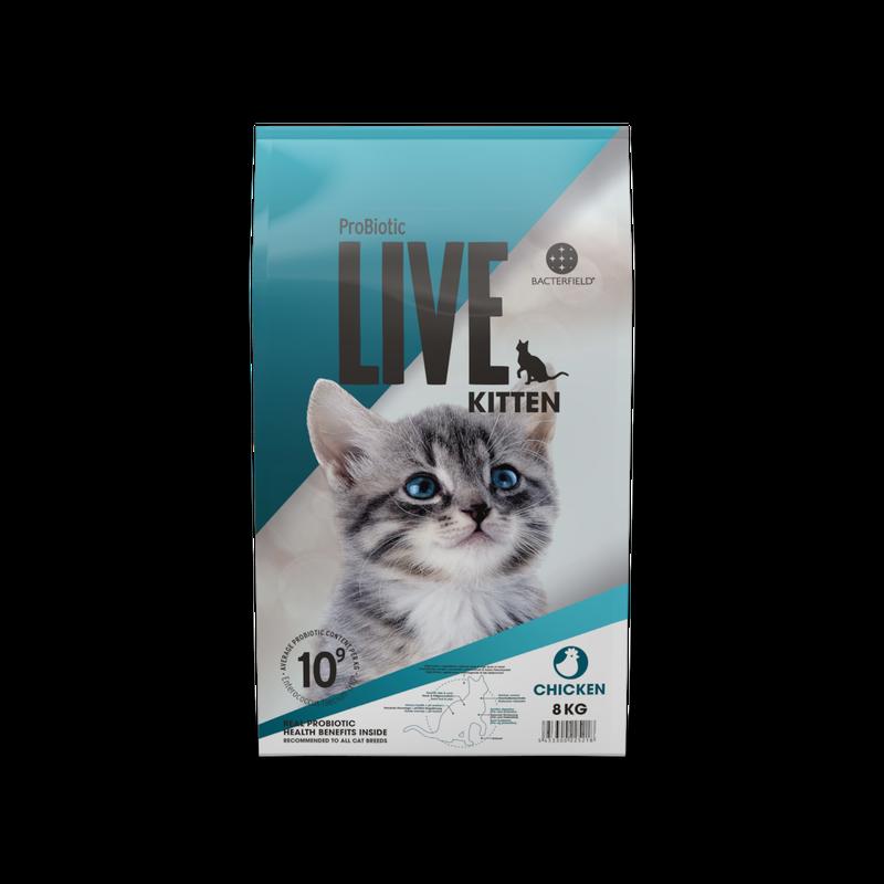 ドイツ発 スーパープレミアム ドッグフード  プロバイオティック ライブ (Probiotic Live) 仔猫 チキン 2Kg