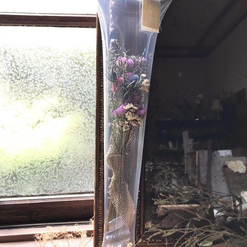 ドライフラワーの花キャリー*パープル