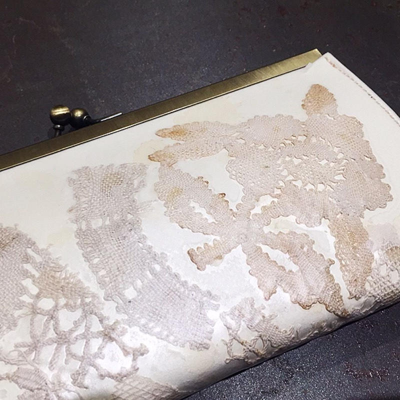 【限定一点】Lilaf アンティークレースのがま口財布5