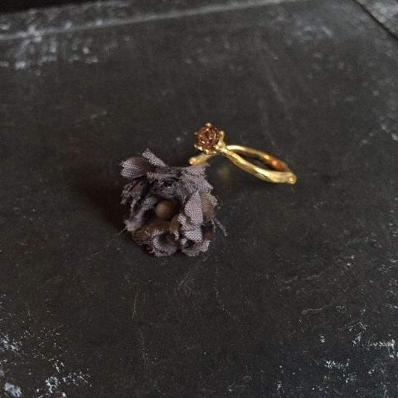 【限定一点】Lilaf 小花のリング black