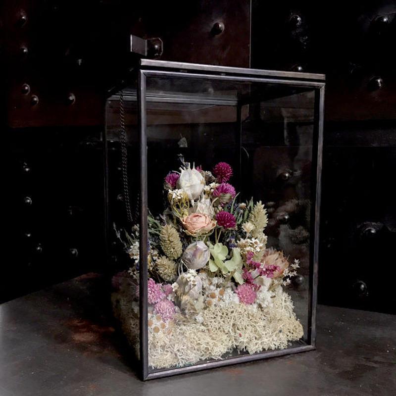 【限定一点】Lilaf ガラスとアイアンのアレンジメント(大)