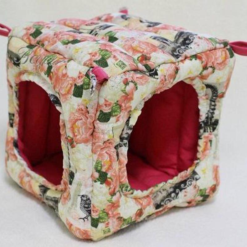 【オーダー】キュービック型ハンモック☆綿入りナスカン付・布団ハンモックLサイズ