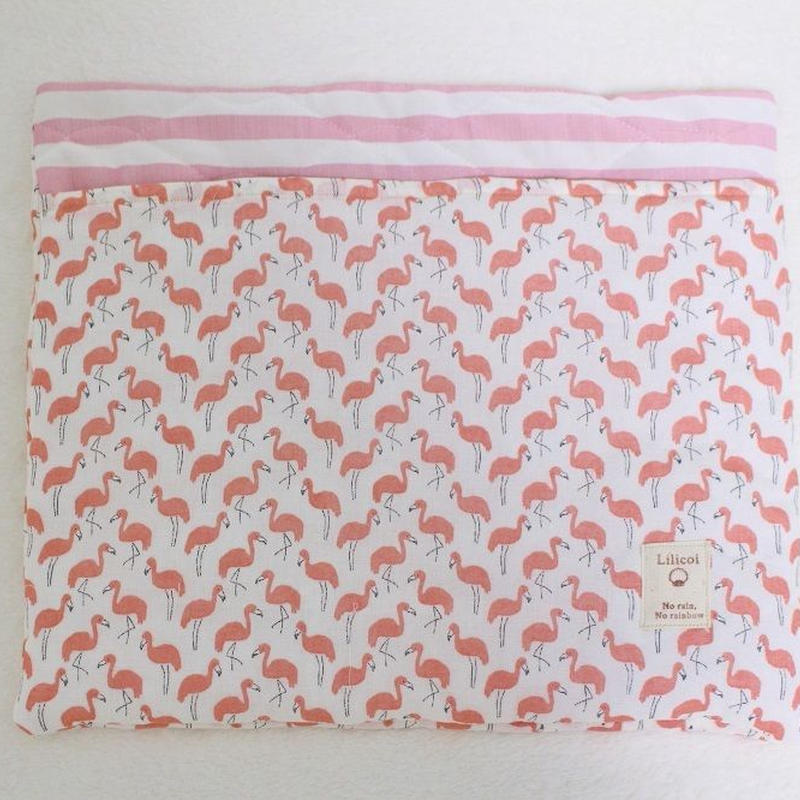 冷感キルト寝袋Mサイズ☆フラミンゴ