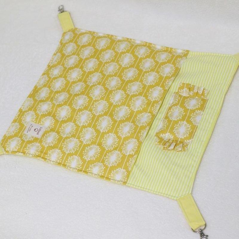 【オーダー】ナスカン付綿入り布団ハンモックMサイズ・綿入り寝袋Mサイズ 北欧フラワー