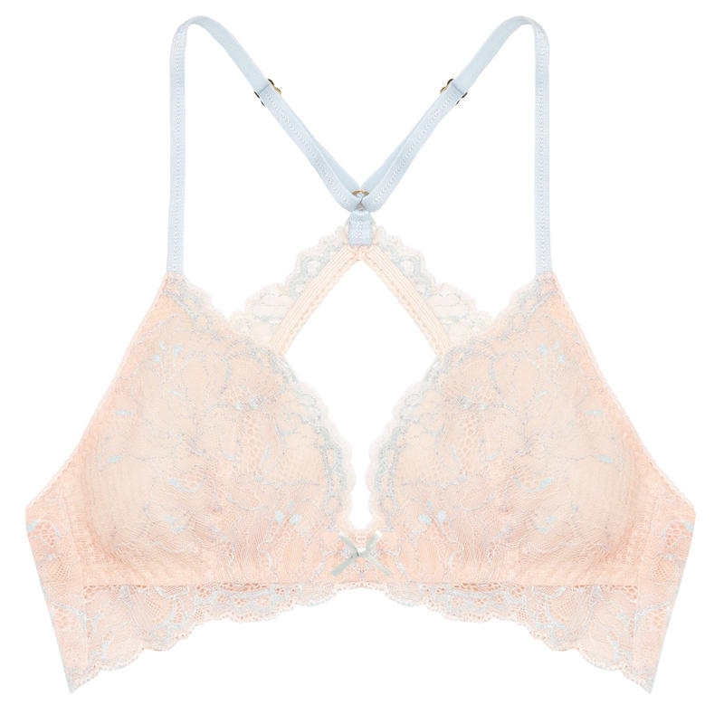 Lilac Sky Pink Back Cross Bralette