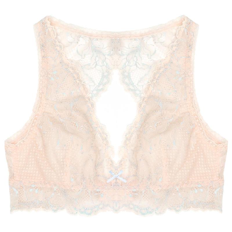 Lilac Sky Pink Back Open Bralette