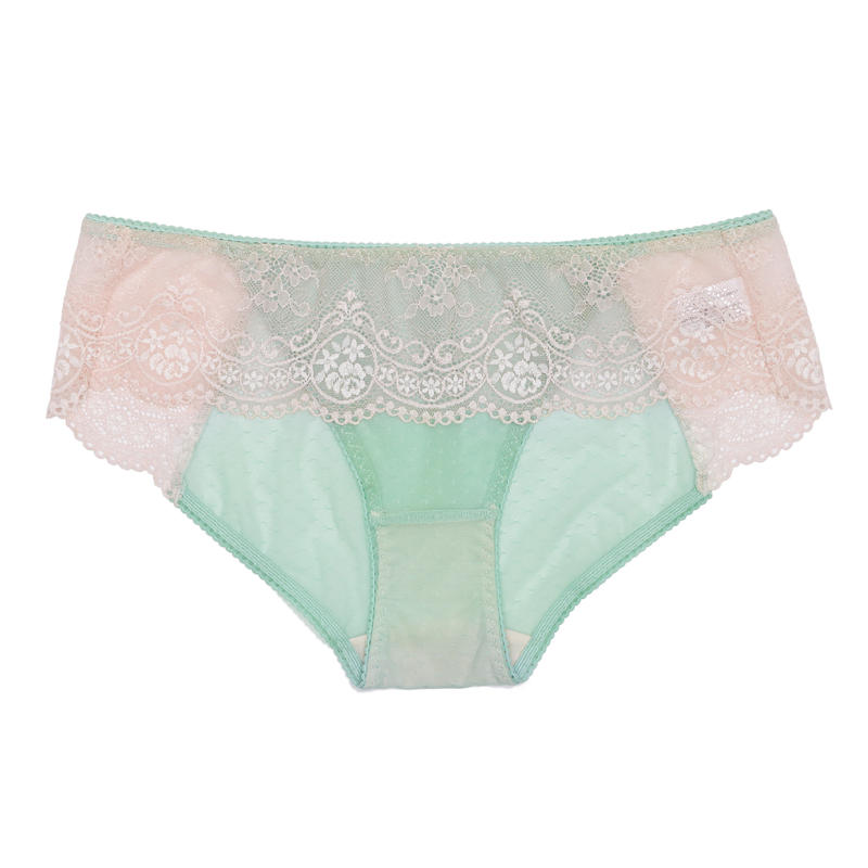 Floret Love Mint Blue Bikini Panty