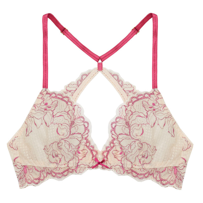 Lilac Berry Pink Back Cross Bralette