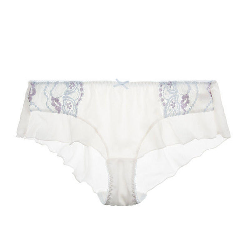 White Silk Flare Panty