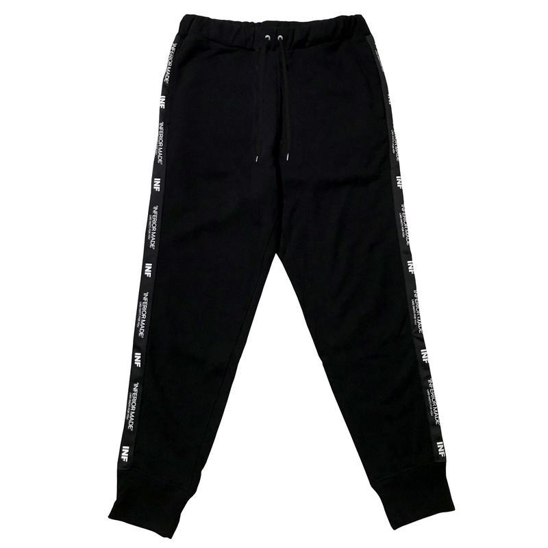 -STATEMENT- SIDE LINE SWEAT PANTS (BLK)