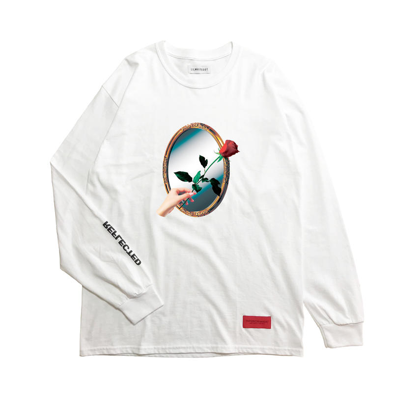 -REFLECTED- L/S TEE (WHT)