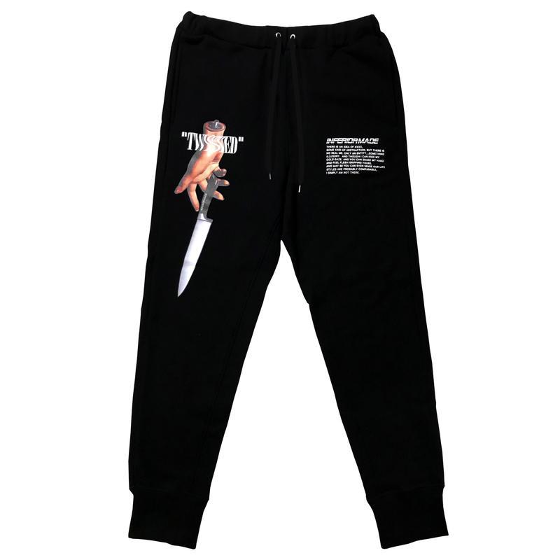 -TWISTED- SWEAT PANTS (BLK)