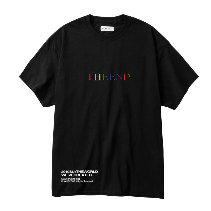 """THE END"" EMBROIDERY TEE (BLK)"