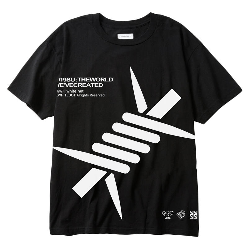 """BARBED"" EXTRA BIG TEE (BLK)"