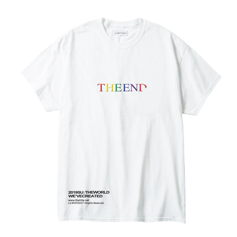 """THE END"" EMBROIDERY TEE (WHT)"