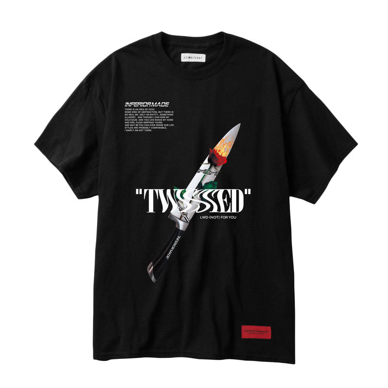 -TWISTED- TEE (BLK)