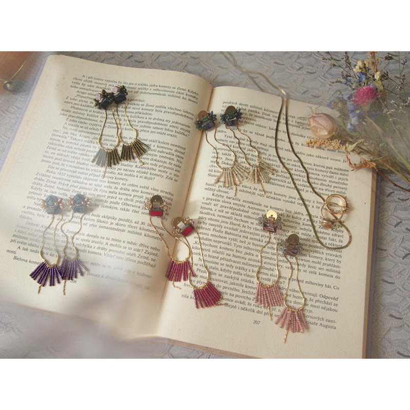 fringe chain earrings