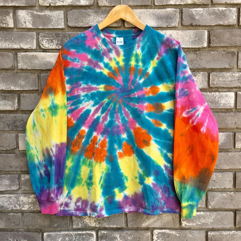 【INSPIRING COLOR TIEDYE × LILY】 Tie-Dye Long Sleeve Blue Lサイズ タイダイ ロンT