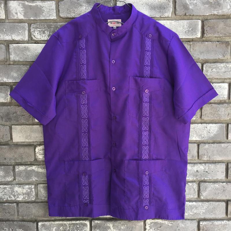 【MY CUBAN STORE】 BandCollar Short Sleeve Shirt マイ キューバン ストア バンドカラー キューバシャツ