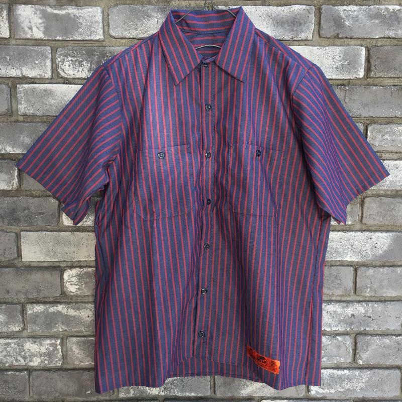 【RED KAP】 Industrial Stripe Work Shirts Red レッドキャップ インダストリアル ストライプ ワークヘム シャツ