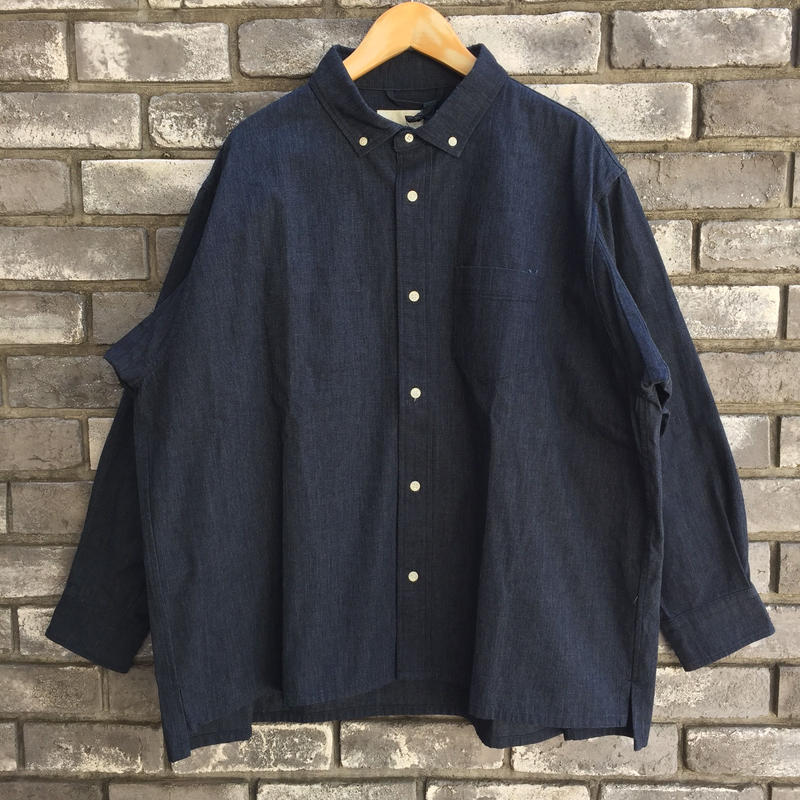 【Breechez】Dungaree B.D Over Shirts ダンガリー ボタンダウン オーバーシャツ