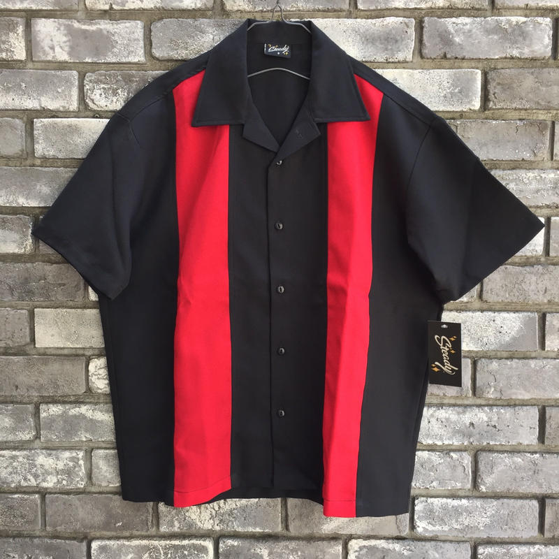 【STEADY CLOTHING】 Bowling Shirt 2-tone Collar  ステディ クロージング ボーリングシャツ 2トーン