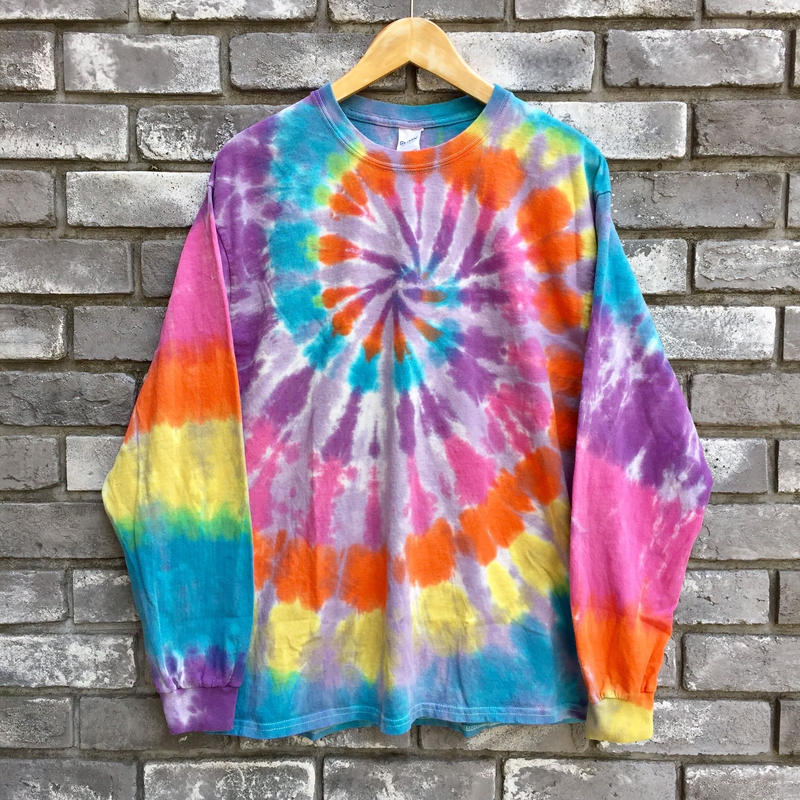 【INSPIRING COLOR TIEDYE × LILY】 Tie-Dye Long Sleeve Grey Lサイズ タイダイ ロンT