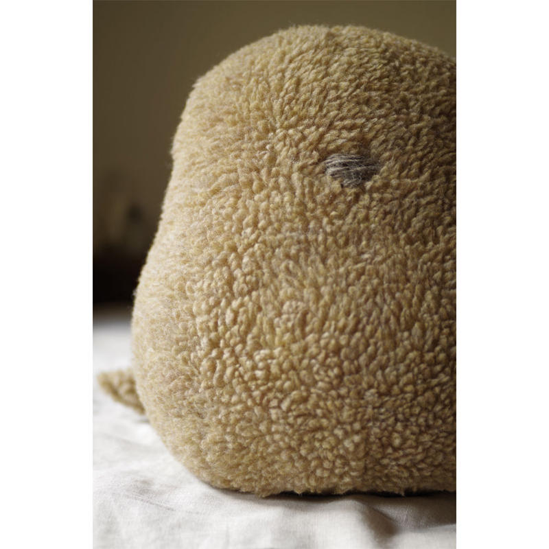 SOFT SCULPTURE-WASHABLE WOOL BOA (BEIGE)