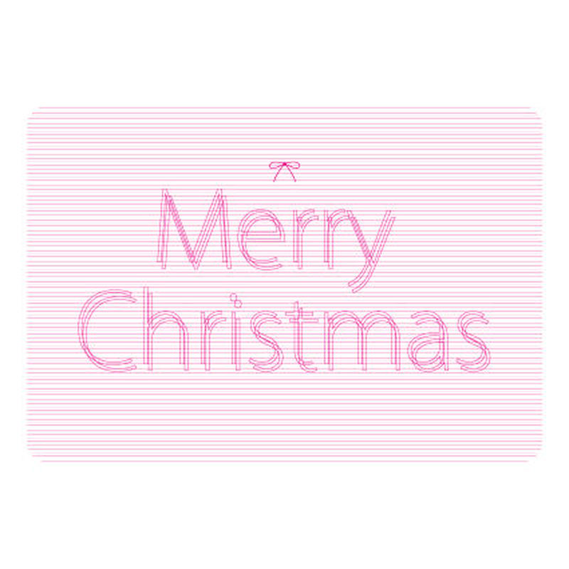 MESSAGE CARD - Merry Christmas