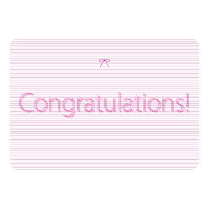 MESSAGE CARD - Congratulations!