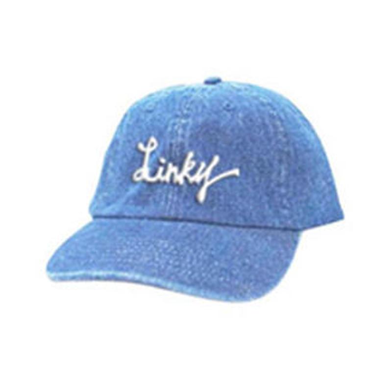 LINKY Logo Cap(Light Blue Denim×White)