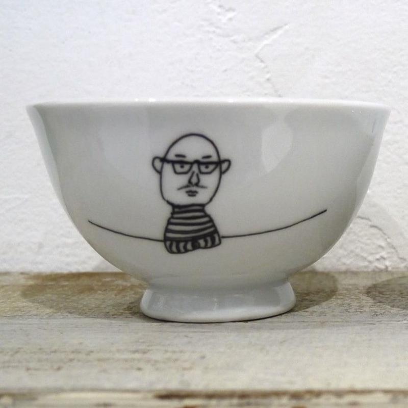 【tomopecco】〈おやじ〉   茶碗・大