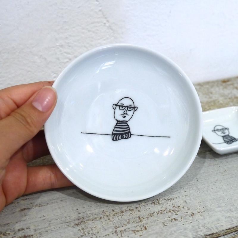 【tomopecco】〈おやじ〉   小皿