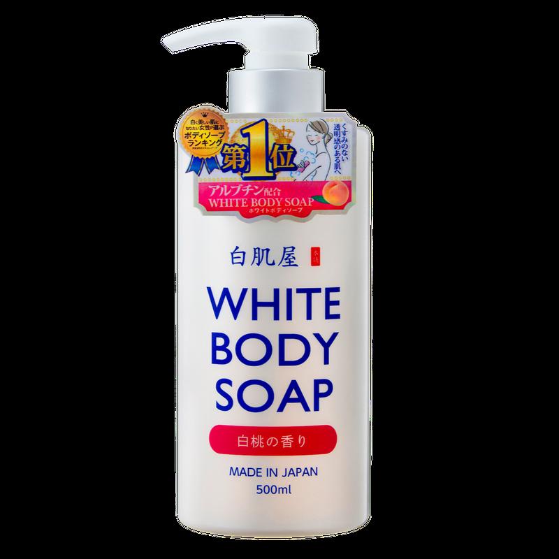 白肌屋 ホワイトボディソープ (白桃の香り)500ml