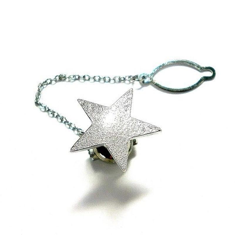 星のシルバータイタックB・ラペルピン