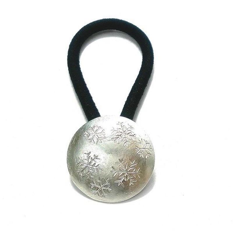 雪の結晶模様のヘアゴム yu-08