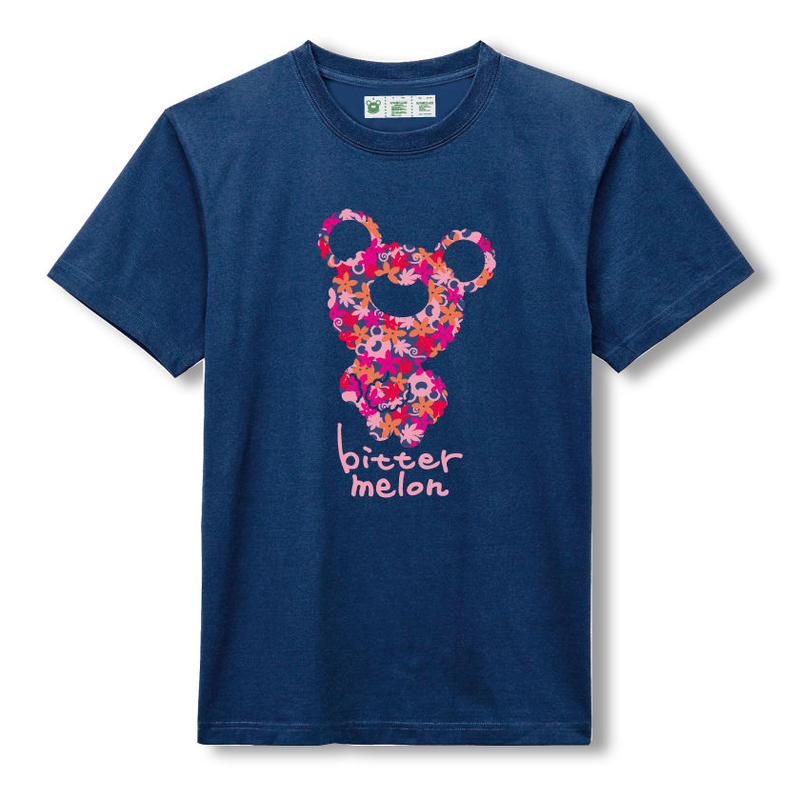 t-shirts(leaf pink×navy)
