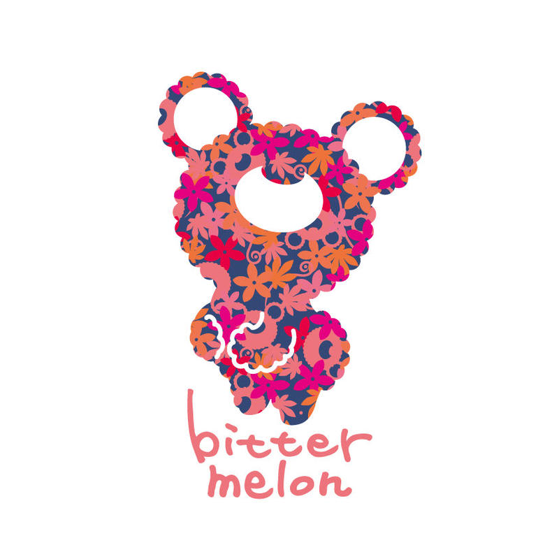 bittermelo Sticker (leaf pink)