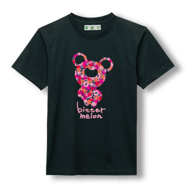 t-shirts(leaf pink×black)