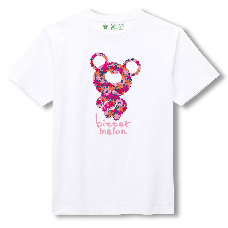 t-shirts(leaf pink×white)