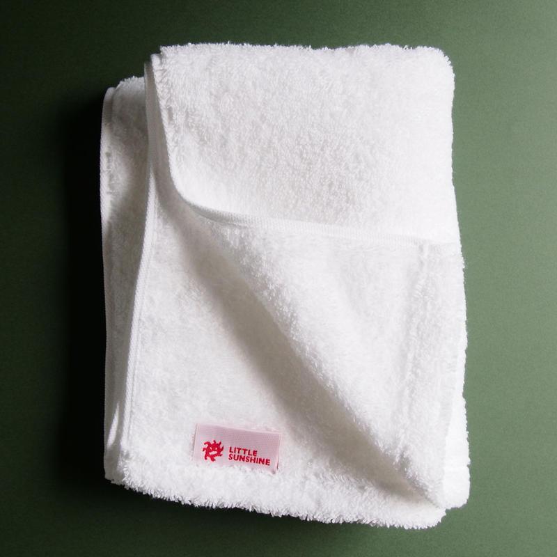 LITTLE SUNSHINE フェイスタオル 38×95cm スノーホワイト