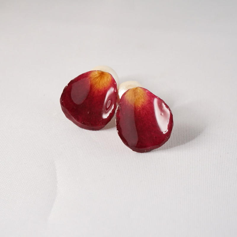 花びら2wayイヤカフ(red01)