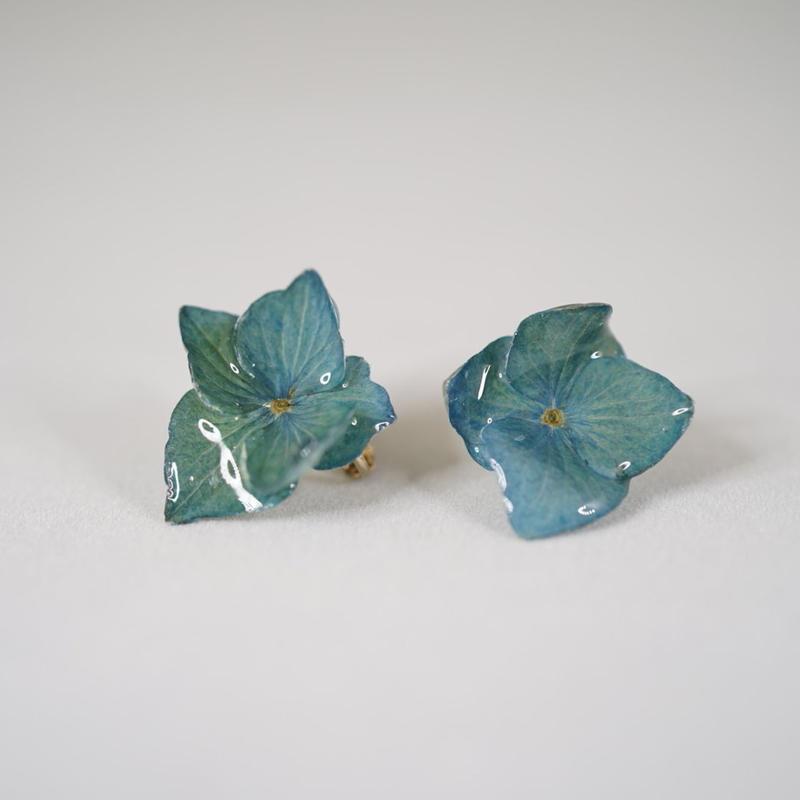 アジサイイヤリング(blue#01)