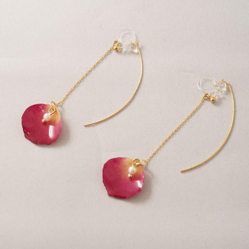 花びらアメリカンイヤカフ(pink05)
