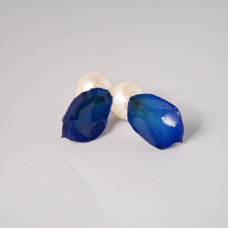 花びら2wayイヤカフ(blue01)
