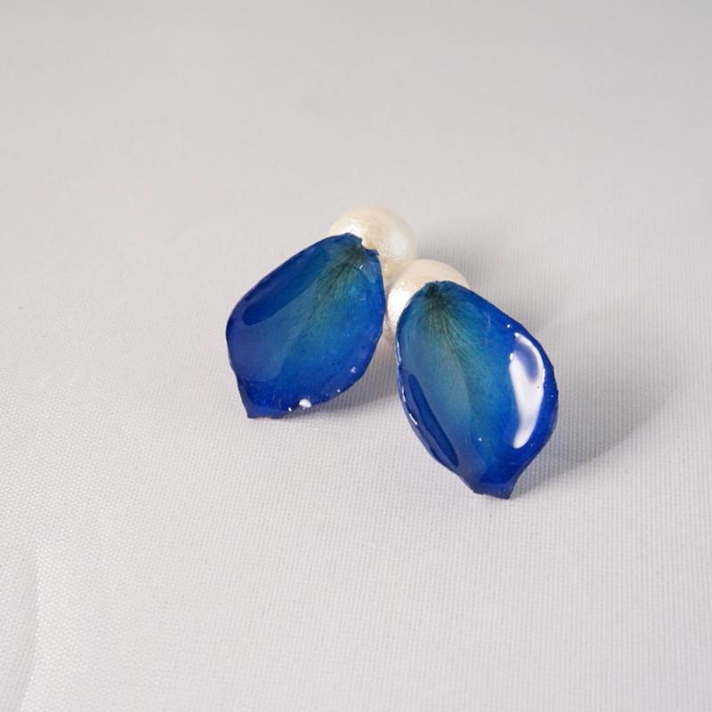 花びら2wayイヤカフ(blue02)