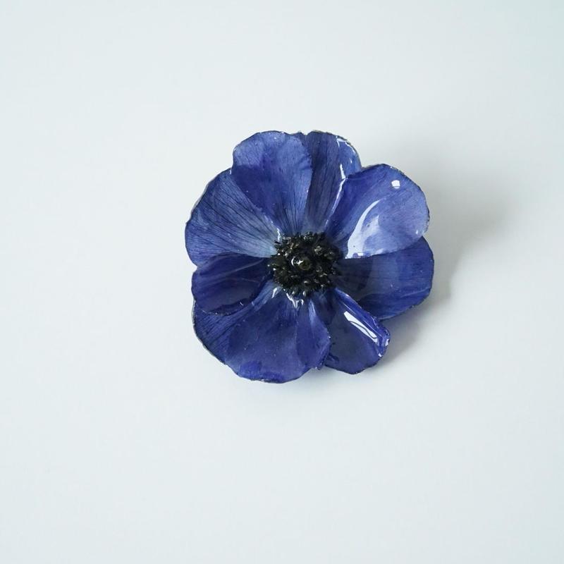 アネモネイヤリング(blue01)